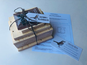 Little Builder's Wren Birdhouse Kit