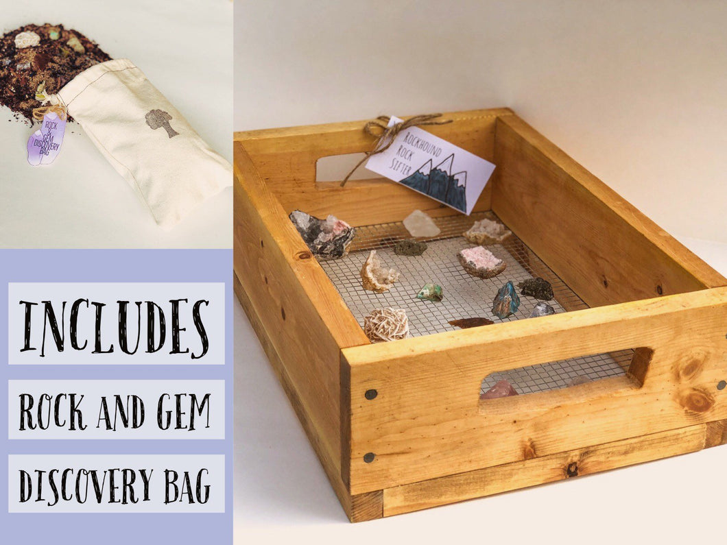 Rockhound Rock Sifter with Rock and Gem Discovery Bag