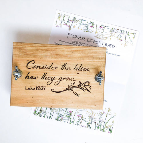 Consider the Lilies Flower Press