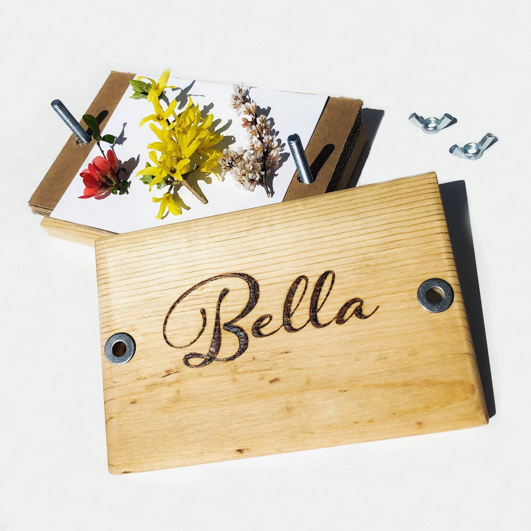 Personalized Name Flower Press