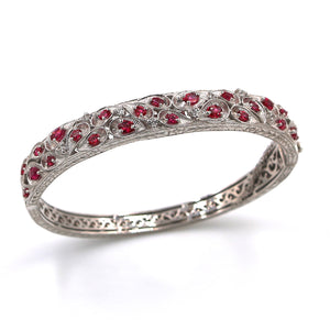 Red Spinel Bangle