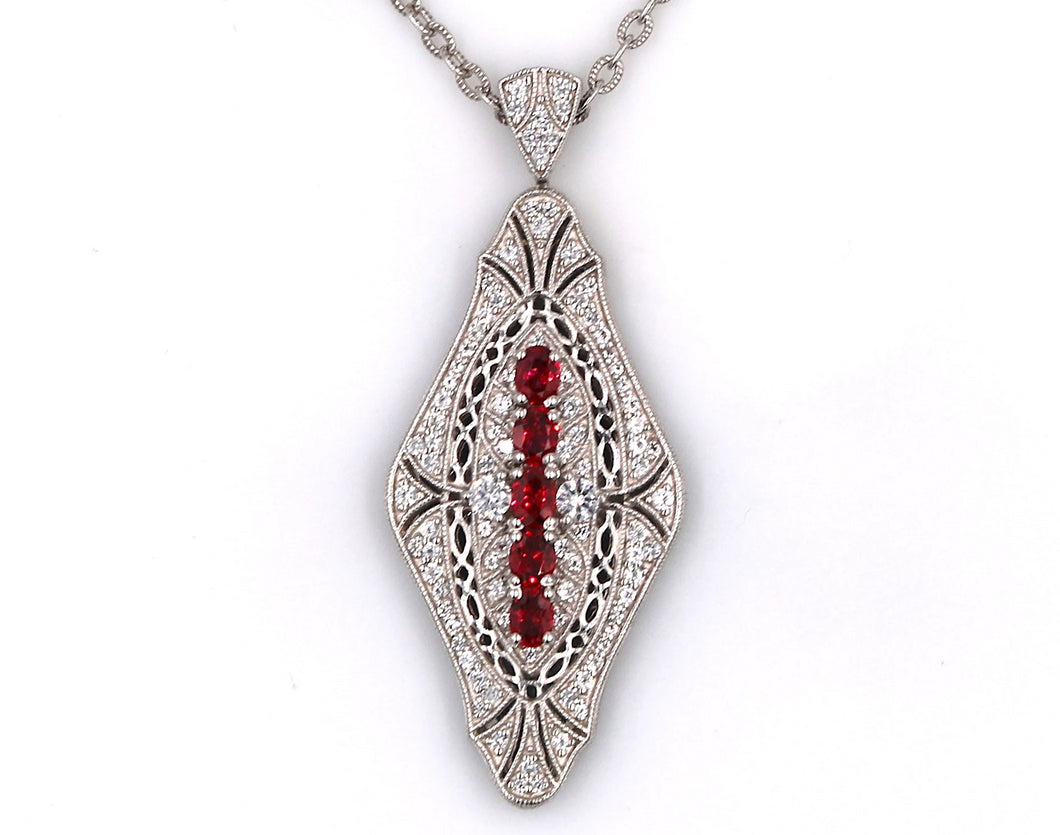 Red Spinel Pendant