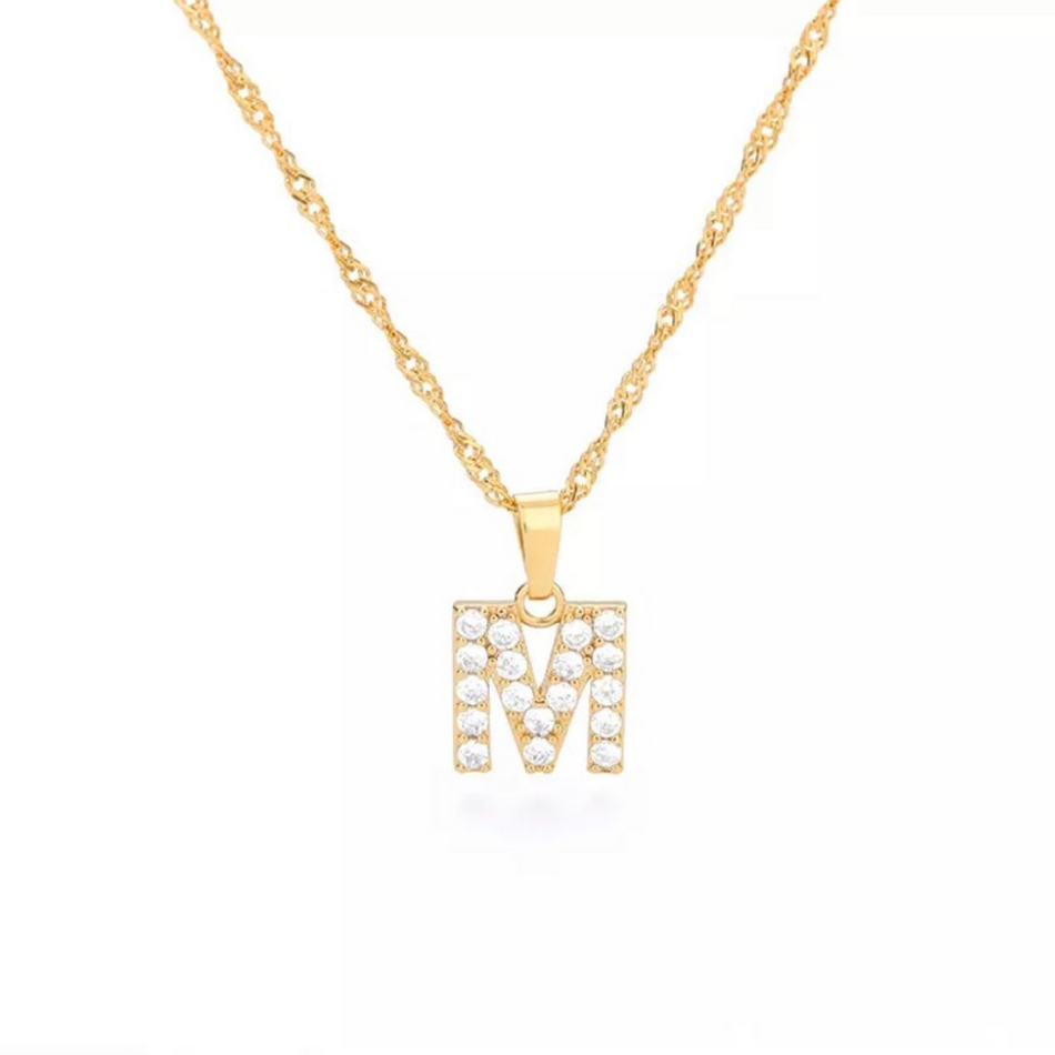 ANGEL DIAMOND INITIALS NECKLACE