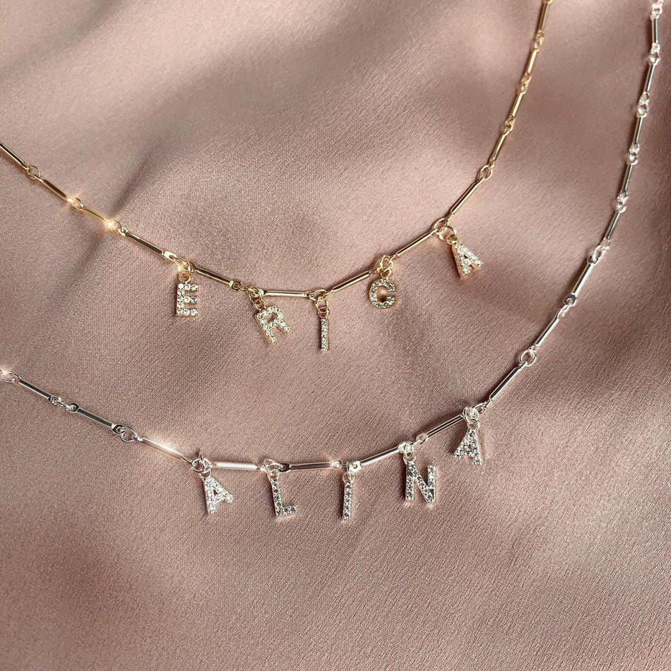 THEIA DIAMOND NECKLACE (BAMBOO CHAIN)