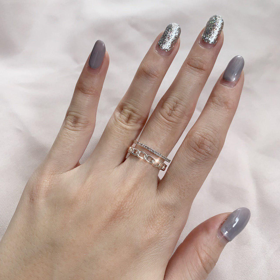 YVETTE DOUBLE BAND RING