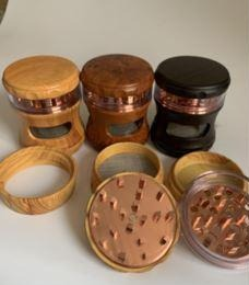 GRINDERS WOOD DESIGN ZINC ALLOY