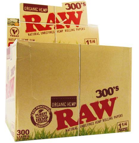 RAW ORGANIC HEMP 300'S 1-1/4 SIZE (40CT)