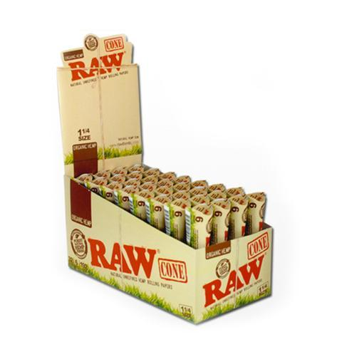 RAW CONE ORGANIC HEMP 1-1/4 SIZE (32CT)