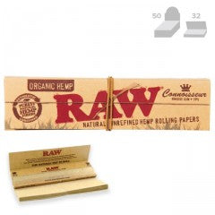 RAW ORGANIC HEMP CONNOISSEUR KING SIZE SLIM + TIPS