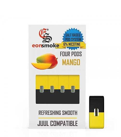 MANGO EONSMOKE JUUL REPLACEMENT COMPATIBLE PODS 5 PACK