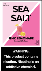 PINK LEMONADE SEA SALT PODS 5 % NIC SALT PREFILLED REPLACEMENT COMPATIBLE PODS - 4 PACK