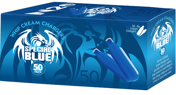 SPECIAL BLUE N20 WHIP CREAM CHARGERS 50 PACK