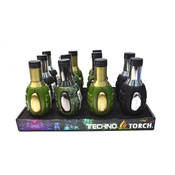 TORCH LIGHTER-  TECHNO - MIX COLORS