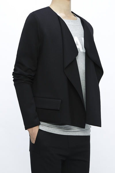 CA190BKDJ : UNISEX SHORT FLAP POCKET CARDIGAN