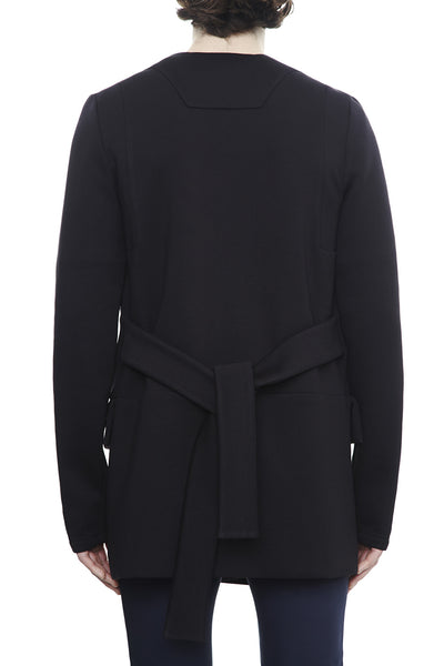 CA191BKDJ : UNISEX LONG BELTED CARDIGAN