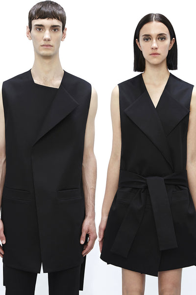 VE905BKC : UNISEX RECTANGLE BELTED VEST / DRESS