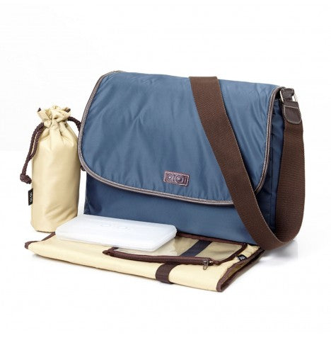 OiOi Navy Twill Nappy Bag - Babybirdie
