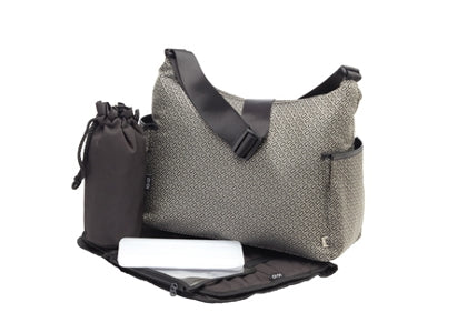 OiOi Signature Weave Hobo Nappy Bag - Babybirdie