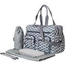 Smokey Blue Eclipse Dot Carry All Nappy Bag - Babybirdie