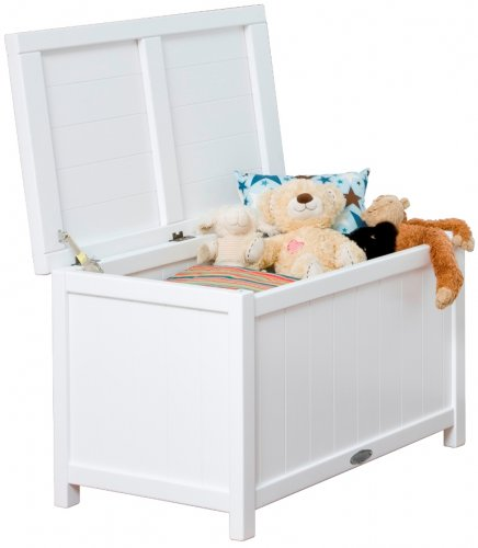 Deep Toy/Storage Chest - Available in Satin White & Rimu Stain - Babybirdie