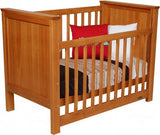 Metro Panelled Cot - Available in Satin White & Rimu Stain - Babybirdie