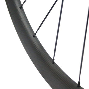 700C 23mm wide Tubular Carbon Fiber Bike Wheelset - hulkwheels