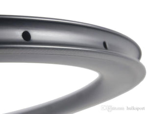 23mm Width 700C 50mm Clincher Racing Road Bike Bicycle Carbon Fiber Rim with aero shape