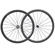 Load image into Gallery viewer, 25 width 38mm cyclocross carbon wheelset - hulkwheels