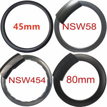 Load image into Gallery viewer, 700C*25 road bike rim carbon fiber Golf dimple carbon bike rim 45/50/58/80 depth