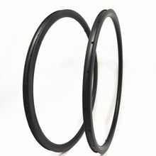 Load image into Gallery viewer, 1 pair 20-24 700c carbon Road bike Rim 25mm Wide Carbon Rim dimple brake suface
