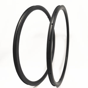 1 pair 20-24 700c carbon Road bike Rim 25mm Wide Carbon Rim dimple brake suface