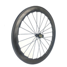 Load image into Gallery viewer, 700c road bike carbon fiber dimple 454 58mm depth 25mm width carbon bike wheels