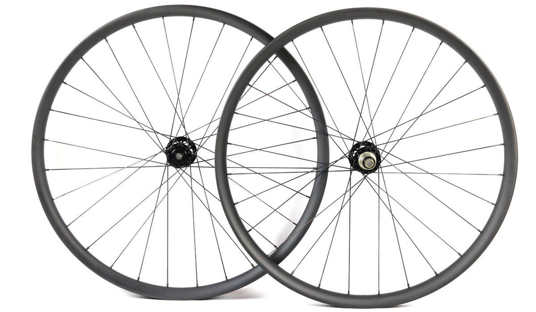 29ER carbon fiber bike wheels MTB wheels 32mm width thru axle Asymmetric rim