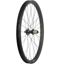 Load image into Gallery viewer, 29ER carbon fiber bike wheels MTB wheels 32mm width thru axle Asymmetric rim