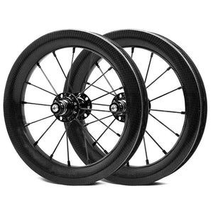 12 Inch Carbon Wheelset BMX Bicycle Full Carbon Wheelset For Kid Balance Bike