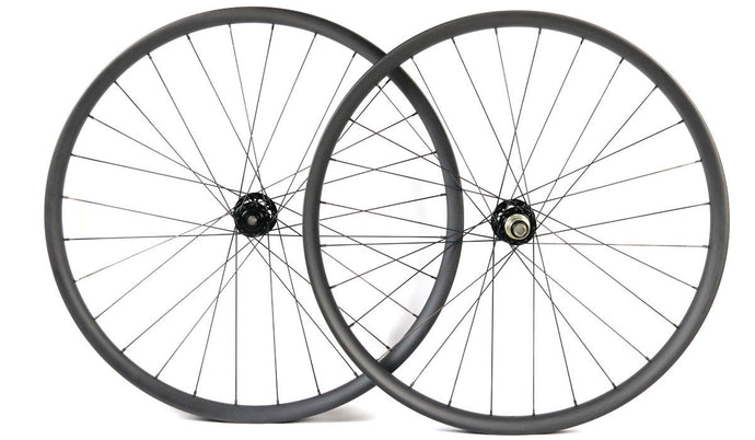 29ER carbon fiber bike wheels MTB wheels 32mm width thru axle Asymmetric rim - hulkwheels