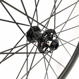 Cyclocross Wheelset 30*27mm Carbon road bike wheel Tubeless Ready with disc hub