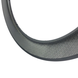 700c road bike carbon fiber Golf dimple 80mm*25mm carbon bike wheels bicycle rim