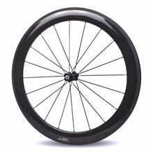 Load image into Gallery viewer, 700c Road Bike Carbon Wheel Tubeless Clincher Tubular Wheelset With Chosen 7387 Straight Pull Hub Sapim CX Ray Spoke