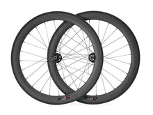 Load image into Gallery viewer, 25mm Width 700C Carbon Cyclocross Bicycles wheel 60mm Disc Brake wheelset - hulkwheels