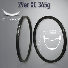 Load image into Gallery viewer, Carbon Mtb Bicycle Rim 29inch Mtb Hookless Asymmetric 24/27/30/35/40/50mm Width 29mm Depth