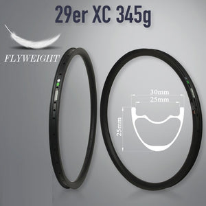Carbon Mtb Bicycle Rim 29inch Mtb Hookless Asymmetric 24/27/30/35/40/50mm Width 29mm Depth