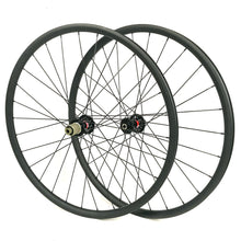 Load image into Gallery viewer, Hand build 29ER carbon mountain bike wheel for MTB XC AM riding 30mm outer width - hulkwheels