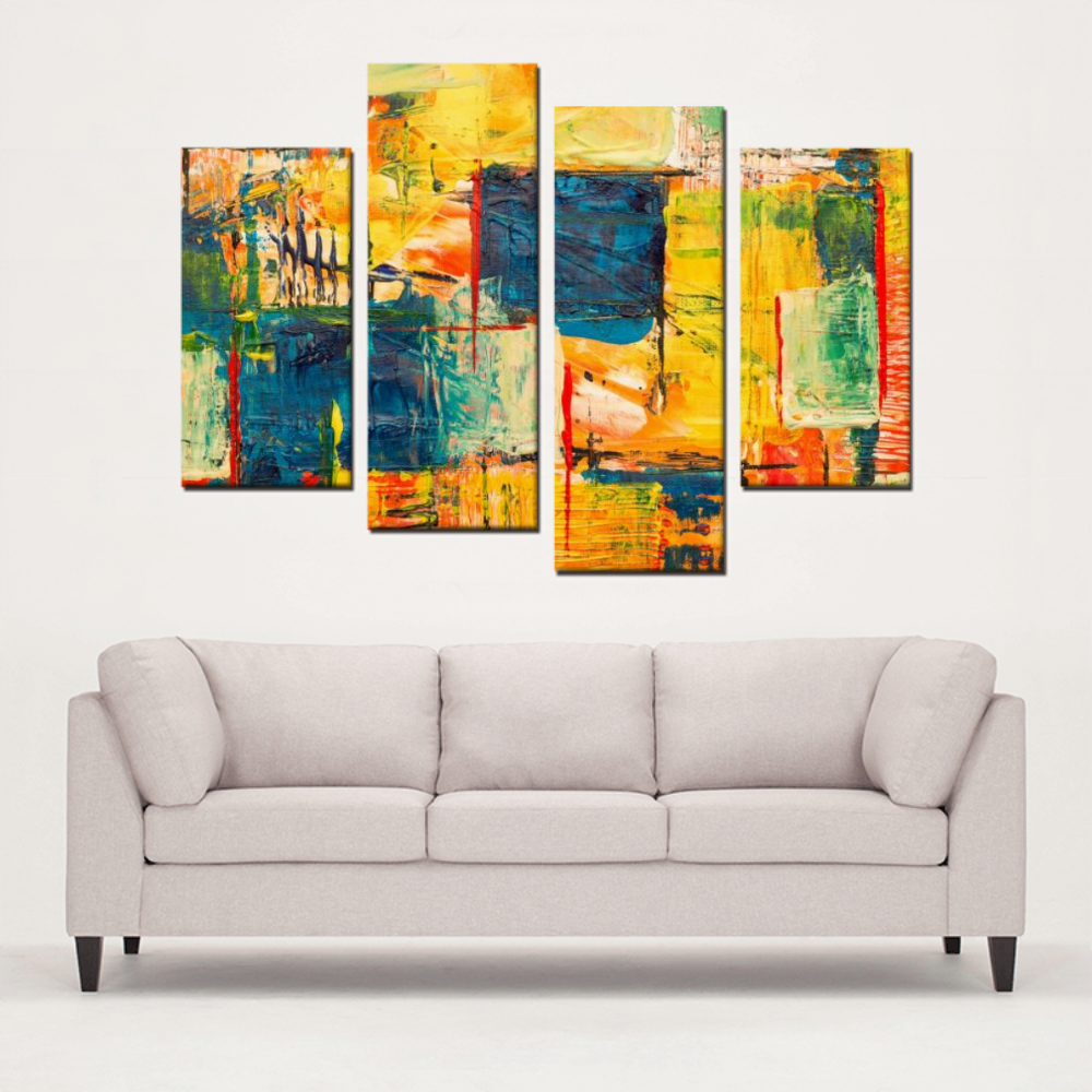 4 Panels Canvas Prints - Abstract Wall Art