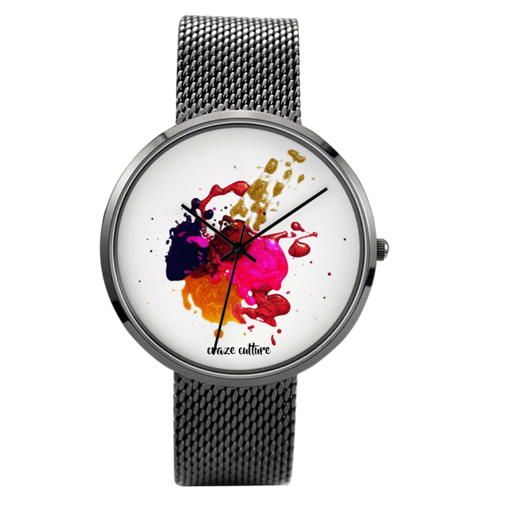 Abstract Art Design Quartz Fashion Watch (30 Meters Waterproof)