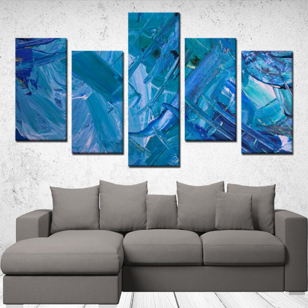 5 Panels Canvas Prints - Abstract Wall Art #2