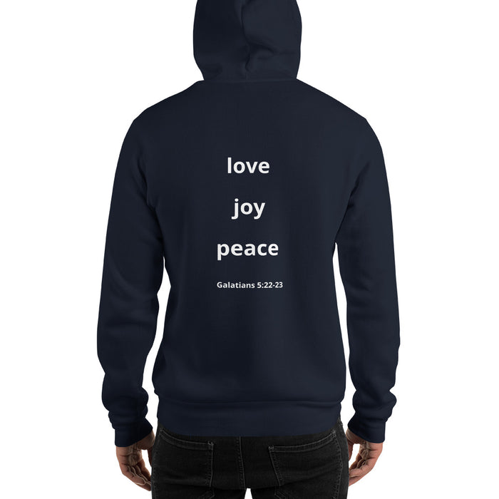 Hooded Sweatshirt / Hoodie with Fruits of the Spirit Design