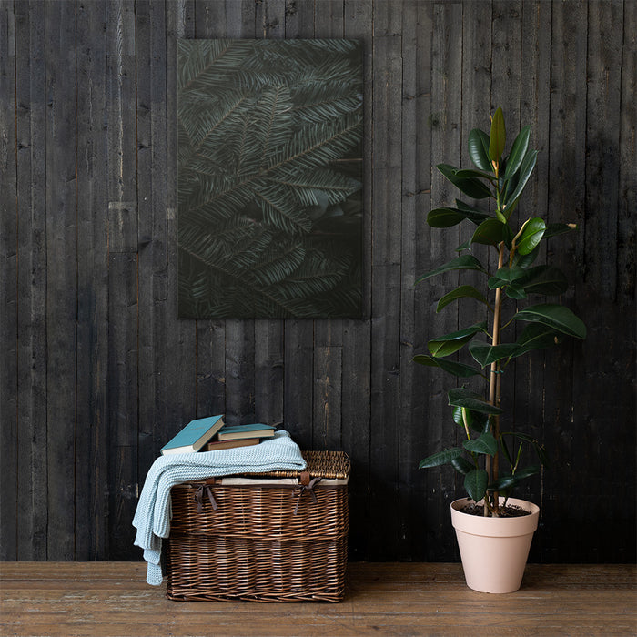 Canvas Print with Palm Leaf Design