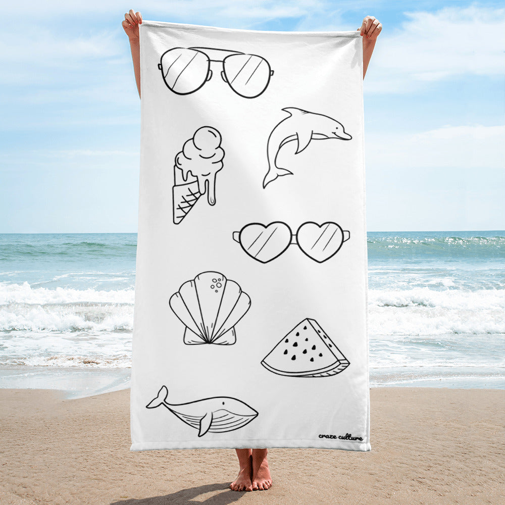 Towel with Beach Design #1