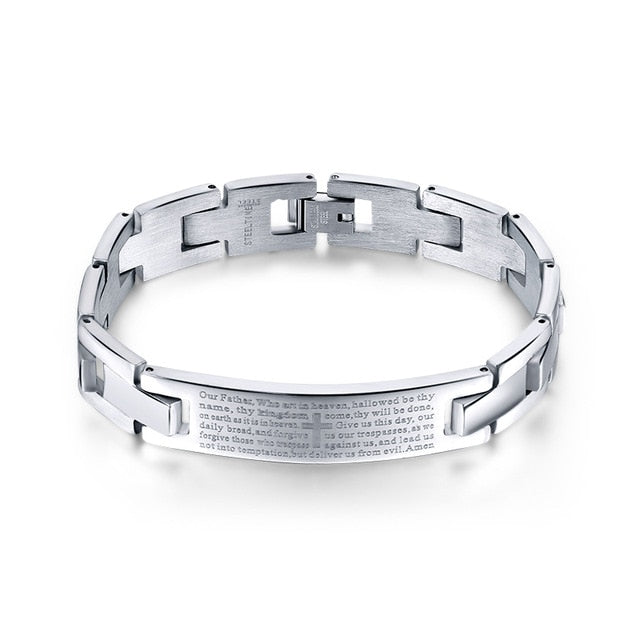 The Lord's Prayer Christian Cross Bracelet